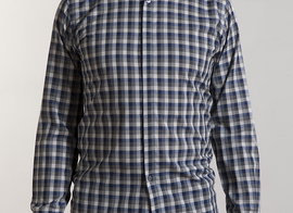 Shirt Varlin - Blue checked