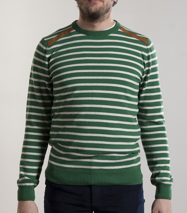 Sweater Tuileries - Green stripes
