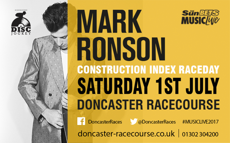 A pair of County Enclosure tickets to enjoy an evening of horse racing followed by DJ Mark Ronson