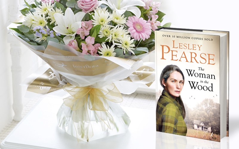 A beautiful bunch of flowers and the new novel from Lesley Pearse