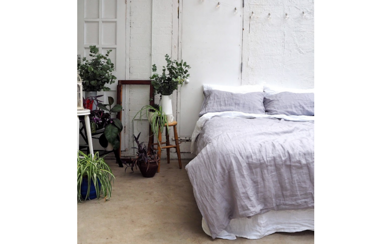 A linen bedding set from Piglet worth £180