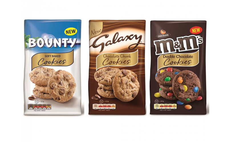 A £250 Virgin Experience Day Voucher, 2 x 180g packets of Galaxy Chocolate Chunk Cookies, 2 x 180g packets of Bounty Soft Baked Cookies and 2 x 180g M&M's Choco