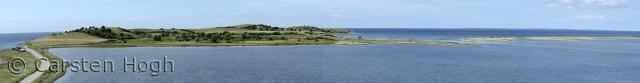 Fyns Hoved set fra Horseklint - panorama
