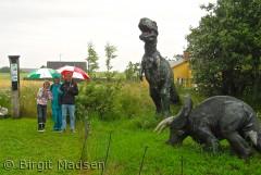 Med farmor på Fur Museum i regnvejr