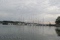 Sejlskibe i Svendborg, med broen til Tåsinge i baggrunden
