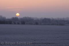 Billledet er taget en dejlig vintermorgen ved Østermarie, mod øst. Birger Bendtsen bjbendtsen@gmail.com