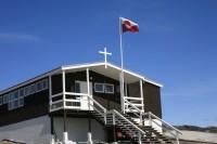 Bygning som både er kirke og skole