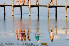 Badende, Veddelev Strand, Roskilde
