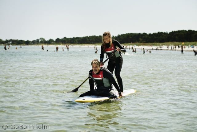 Stand Up Paddlesurfing ved Balka Strand