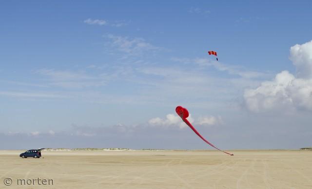Der er god plads til leg på Rømø's strande