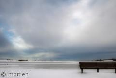 Udsigtsbænk ved Roskilde fjord, Sankt Hans