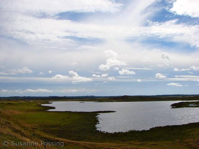 Over klitsøen, set fra Tved Klitplantage øst for Blegesø