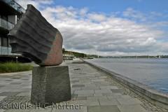Den nye havne front i Middelfart. Fotograferet i Juli 2012.