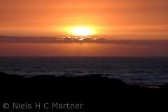 Solnedgang ved Skagen.