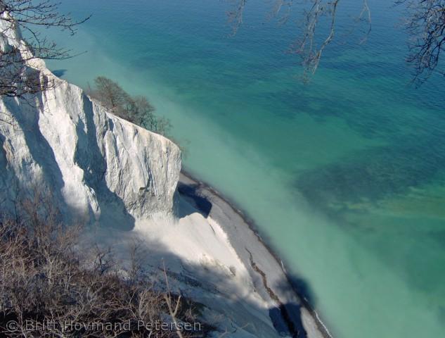 Billedet er taget fra toppen af Møns Klint, en forårsdag i 2007.