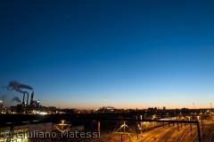 Tidlig aften over jerbanen, Dybbølsbro, Vesterbro