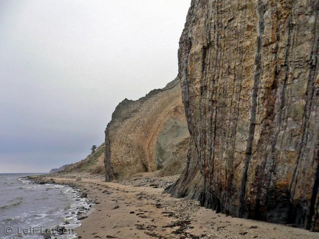 På skrænterne kan de geologiske omvæltninger ses.