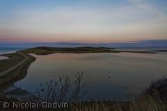 På fynshoved er der også et udkigspunkt hvor du kan opleve dette syn. Billedet er fra en tidlig morgen inden solopgang.