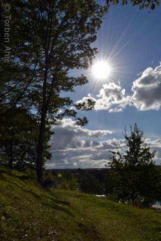 En råkold efterårsdag i Silkeborg - Billedet er taget ved Århusbakken - med sigte ned mod Hjelen v. Silkeborg søerne.