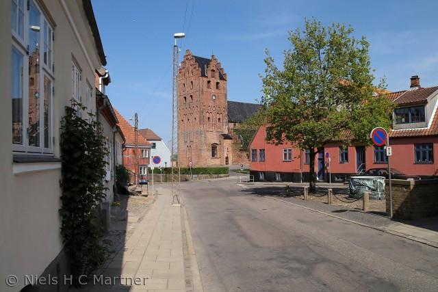 Middelfart Kirke, fotograferet en sommerdag i 2012.