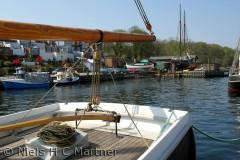 Den gamle havn i Middelfart, en tidlig forårsdag.