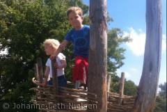 Børneleg på Naturcenter Vestamager