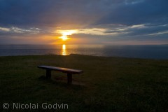 Fantastisk udsigt på det nordligste punkt på fynshoved. Man kan bare sidde og nyde udsigten fra bænken.