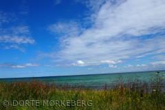 Taget på Bøgebjerg strand 21 juli 2012. Farver, lys vand og himmel er fantastisk og her smeltet sammen til creme for sjælen