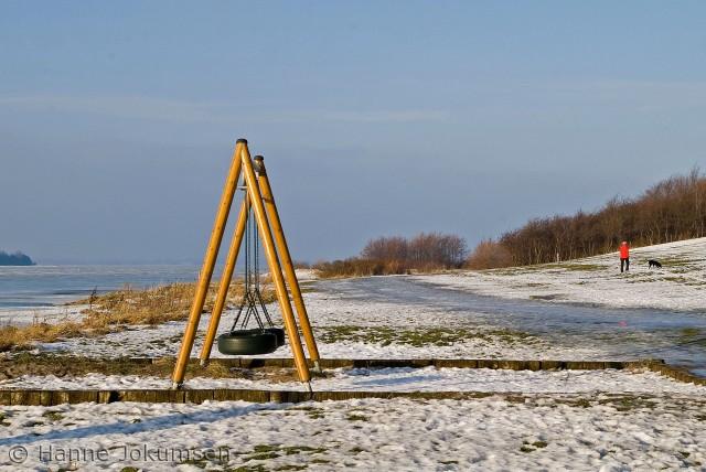 Vinterstemning på Vigen Camping, Roskilde