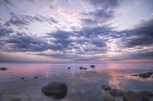 Et billede ud over Østersøen omkring Bornholm, en aften hvor solen var ved at gå ned.   Fotograf: Thomas Graversen  tgraversen36@gmail.com