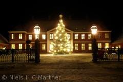 Hindsgavl Slot ved Middelfart, fotograferet i December måned.