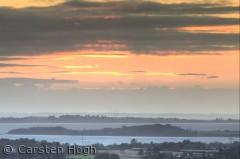 Solnedgang mod Horne Land