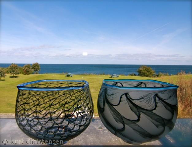 Udsigt fra Baltic Glass, Gudhjem, Bornholm