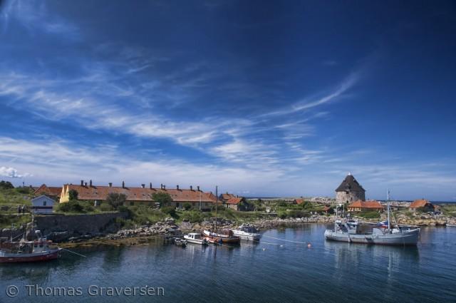 Et udsigts billede over havnen.