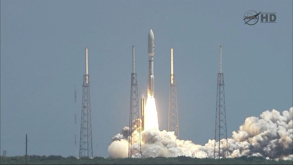 NASA's Juno mission lifts off from Cape Canaveral Air Force Station in Florida. Image credit: NASA/JPL-Caltech