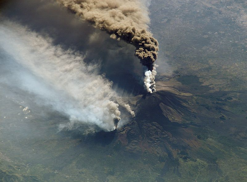 Mt Etna seen from the International Space Station