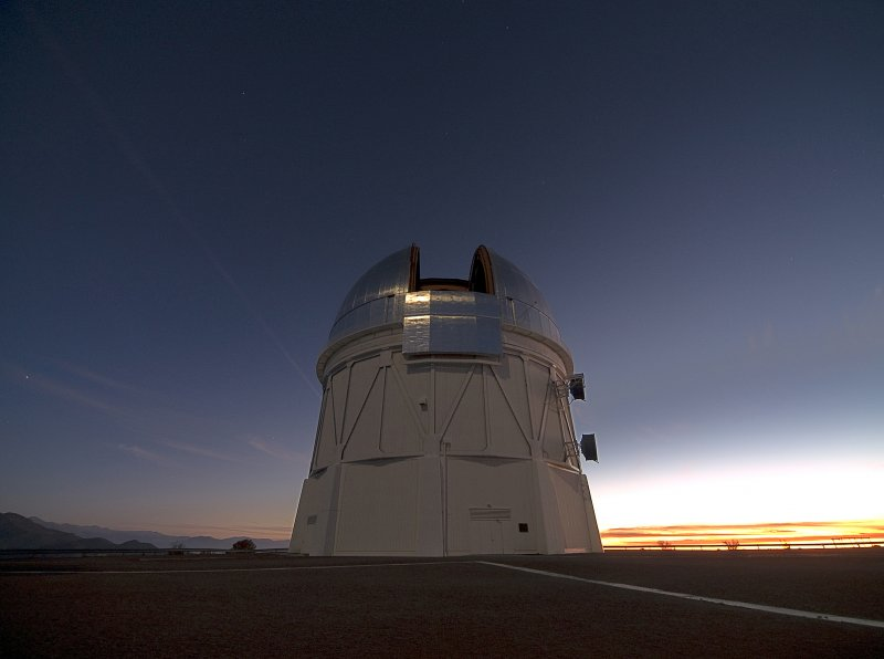 The 4 meter Blanco telescope in Chile. Credit: T. Abbott and NOAO/AURA/NSF.
