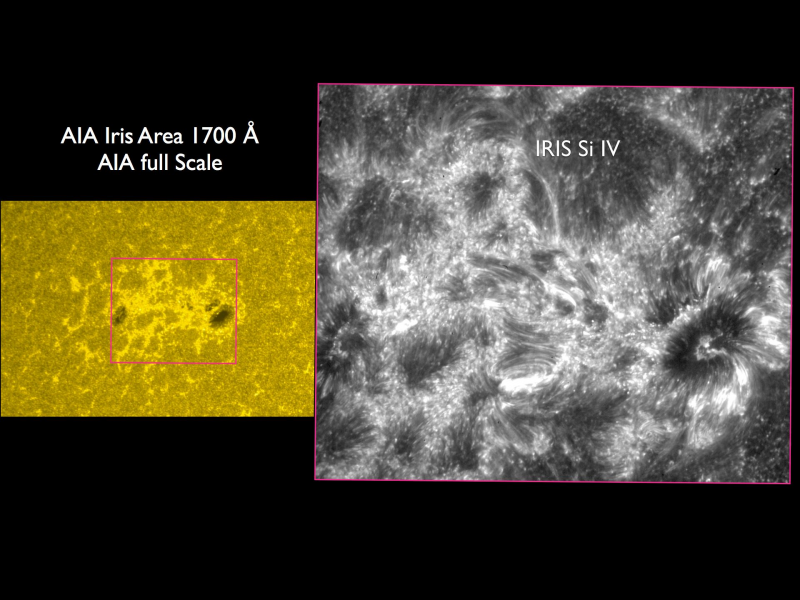 IRIS data comparer to SDO