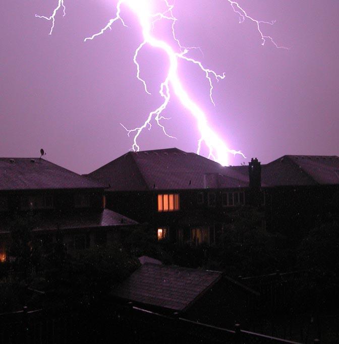 Lightning strike in Toronto
