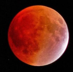 "Lunar eclipse, also known as a ""Blood Moon"""