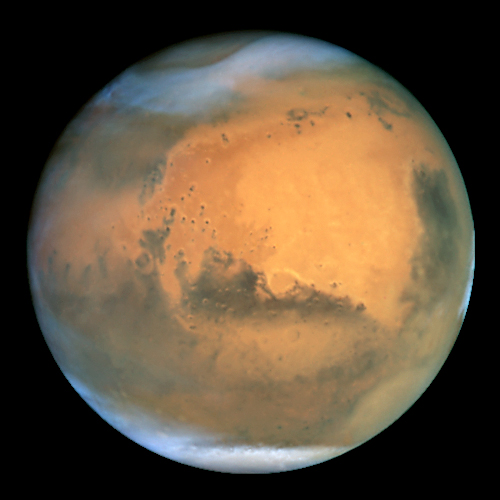 Mars through the Hubble Space Telescope