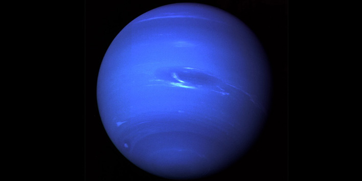 Neptune, photographed by Voyager in 1989
