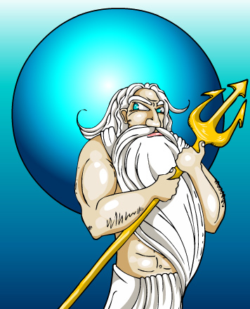 Neptune, God of the seas and oceans