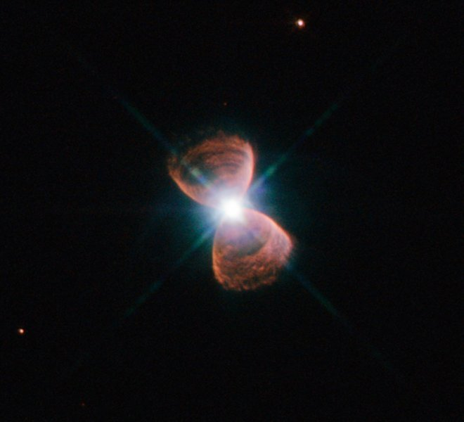 This image taken with the NASA/ESA Hubble Space Telescope shows an example of a bipolar planetary nebula.  Credit: NASA, ESA