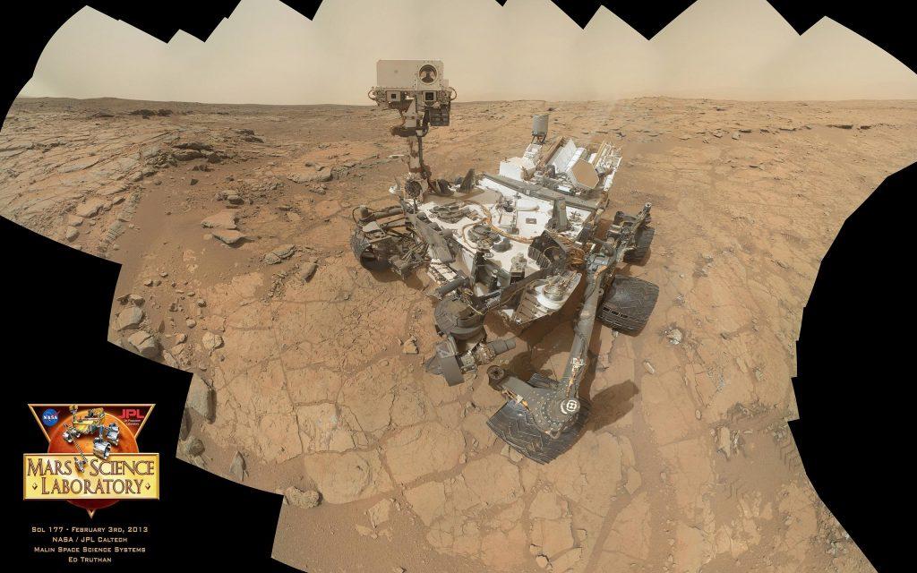 Curiosity rover self-portrait