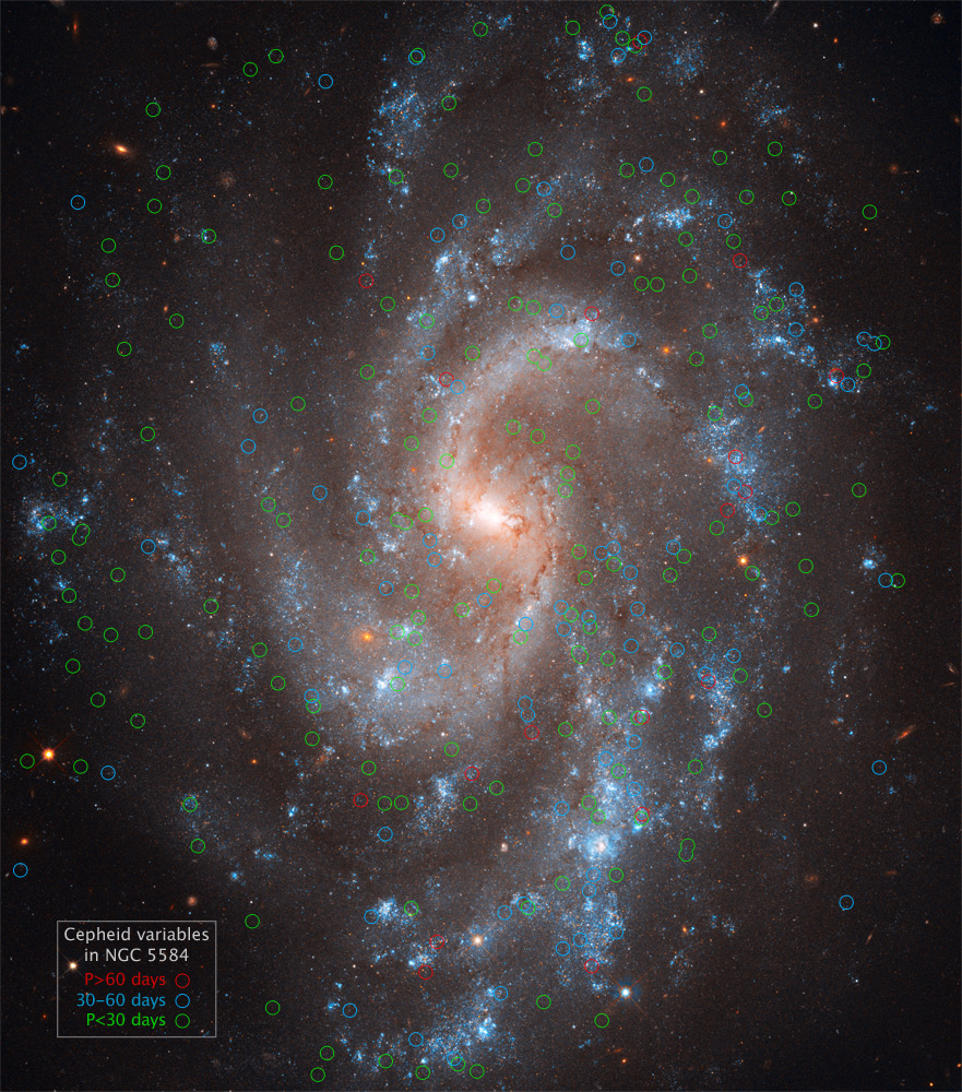 epheids in Spiral Galaxy NGC 5584. Source: Hubblesite.org