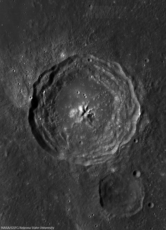 Bulialdus Crater, in the western part of Mare Nubium