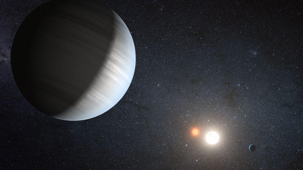 Artist's impression of Kepler47 system