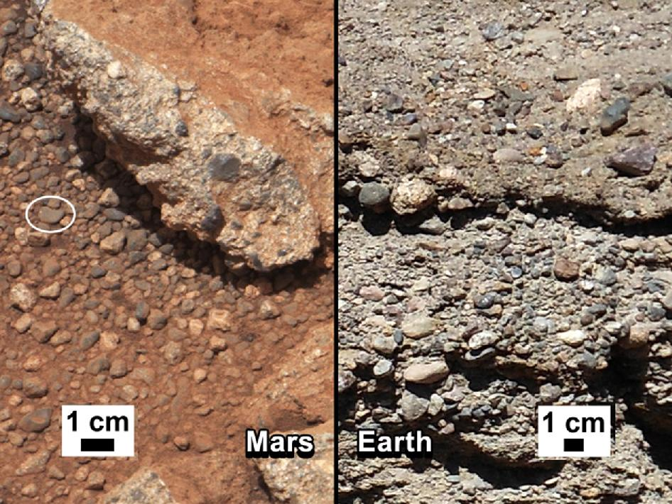 Ancient stream bed on Mars