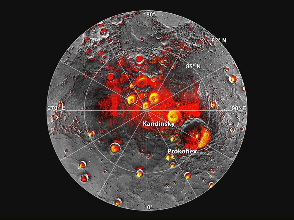 Permanently shadowed craters on Mercury's North pole